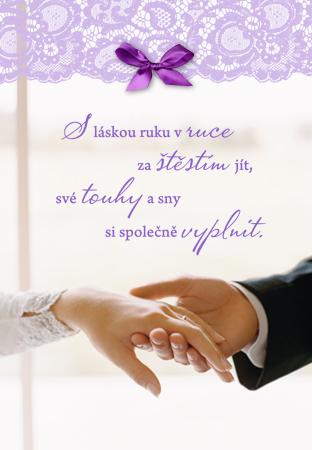 blahopřání k svatbě obrázky S láskou ruku v ruce   přání k svatbě blahopřání k svatbě obrázky