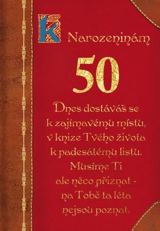 báseň k 50 narozeninám Kniha života 50   přání k výročí báseň k 50 narozeninám