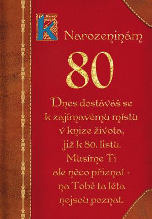 blahopřání k 80 narozeninám texty Kniha života 80   přání k výročí blahopřání k 80 narozeninám texty